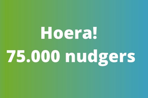 Hoera! 75.000 nudgers